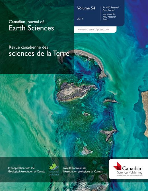 Canadian Journal of Earth Sciences cover