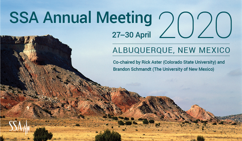 2020 Annual Meeting of the Seismological Society of America