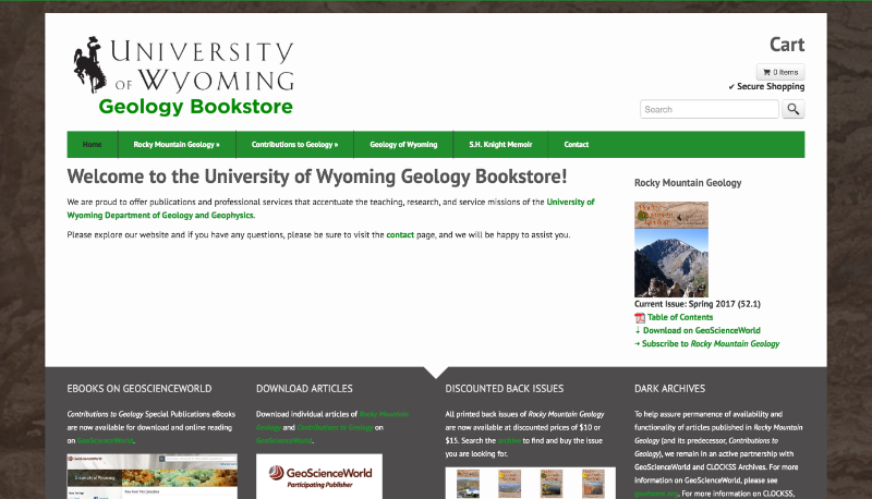 UWyo Geology Bookstore
