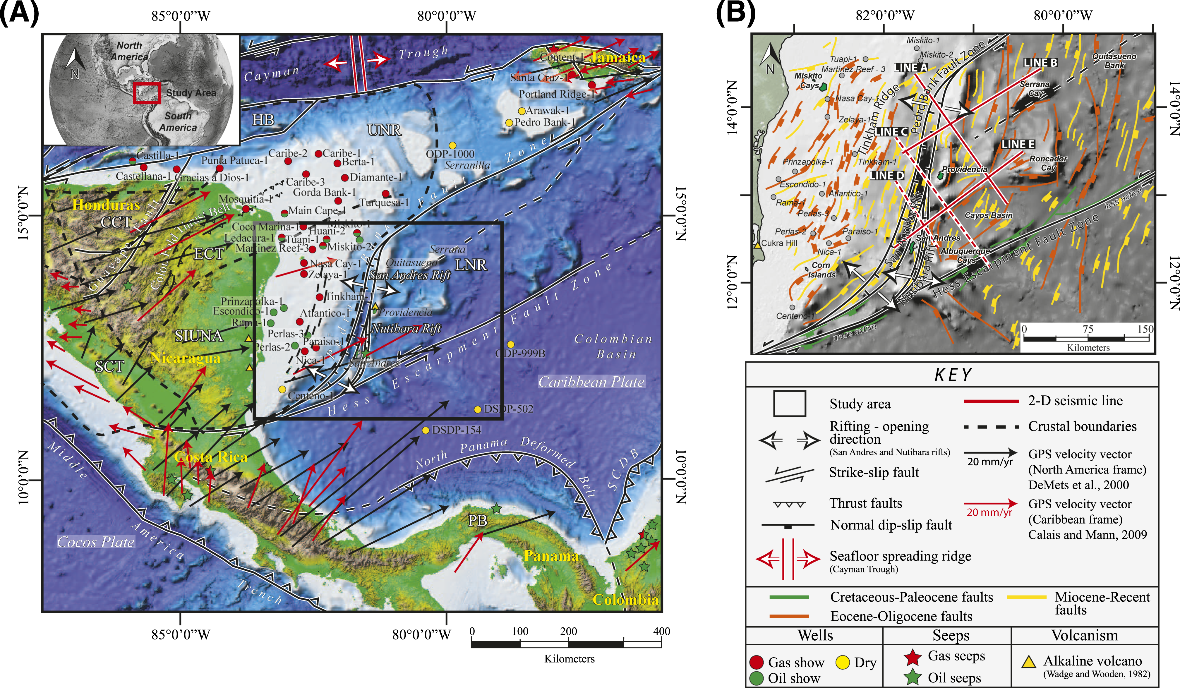 Western Caribbean intraplate deformation: Defining a continuous and ...