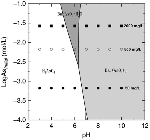 Qualitative and quantitative investigation of partitioning and local geochemical modeling of the saturation states with respect to barium arsenate in the asv fandeluxe Gallery