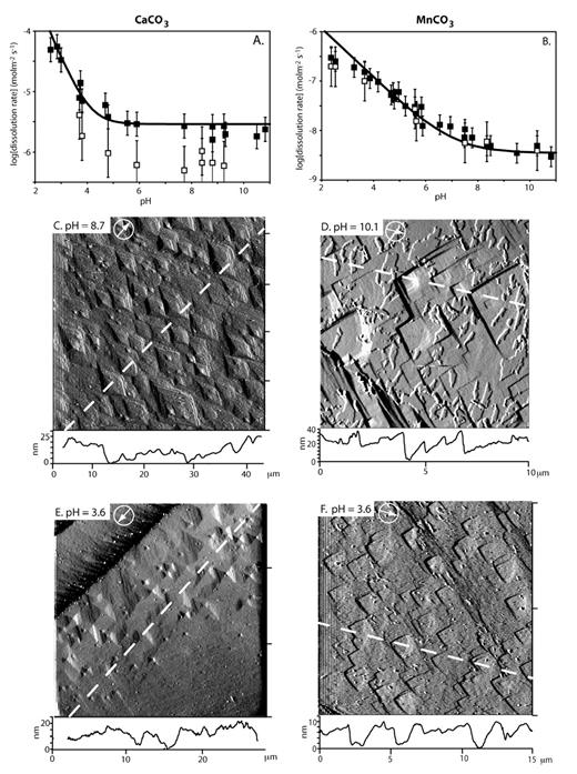 Dissolution Rates And Pit Morphologies Of Rhombohedral Carbonate