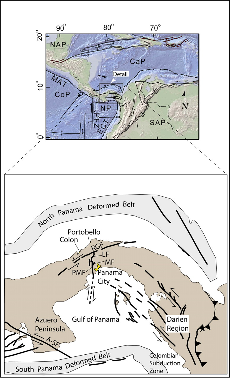 Neotectonics And Paleoseismology Of The Limn Pedro Miguel Process Flow Diagram Panama Canal View Largedownload Slide