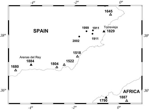Study Of The Damaging Earthquakes Of 1911 1999 And 2002 In The
