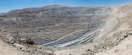 Chuquicamata, a state-owned copper mine located in Chile, is the largest open pit copper mine in the world. Photo: Diego Delso, License CC-BY-SA