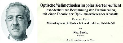 Max Berek (1937): Fortschritte der Mineralogie, v. 22, p. 1–103.