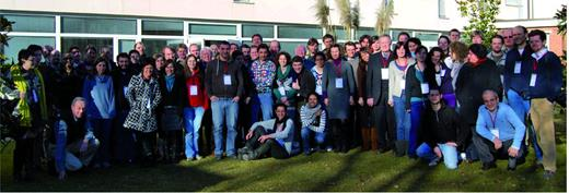 The participants in the international diamond school.