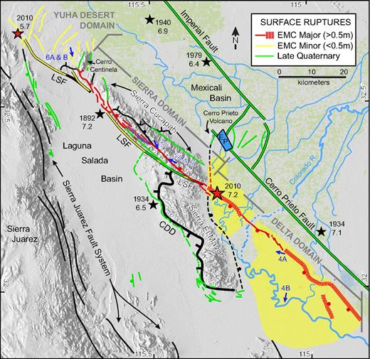Assembly of a large earthquake from complex fault system