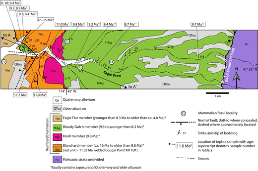 Middle miocene to holocene tectonics basin evolution and geologic map of the eagle draw area in the center of the knoll basin the fandeluxe Images