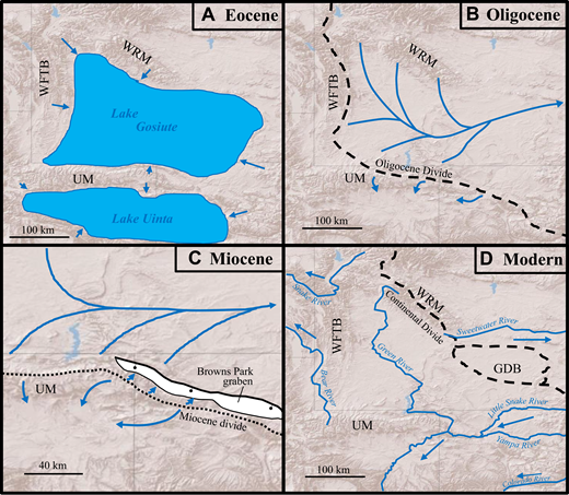Cenozoic collapse of the eastern Uinta Mountains and drainage ...