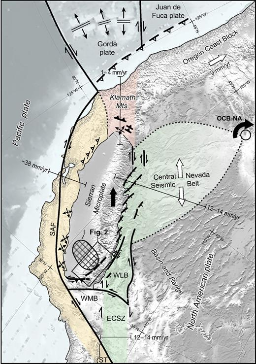 regional tectonic setting of the sierran microplate oblique mercator map of the western united states