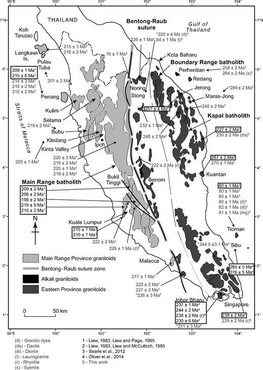 Petrogenesis Of Malaysian Granitoids In The Southeast Asian Tin Belt