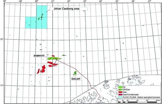 Overview of the Johan Castberg area in the Barents Sea.