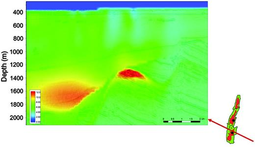 Anomaly across Skrugard obtained by 3D inversion of new CSEM data collected postwell in 2011.