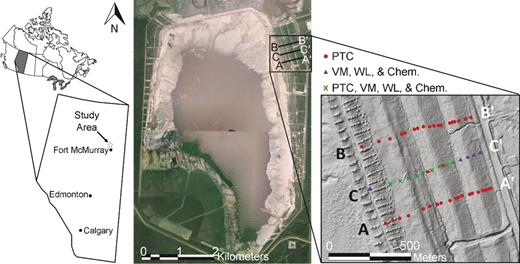 Geophysical characterization of an undrained dyke containing an oil location of the syncrude southwest sand storage swss facility satellite image and fandeluxe Image collections