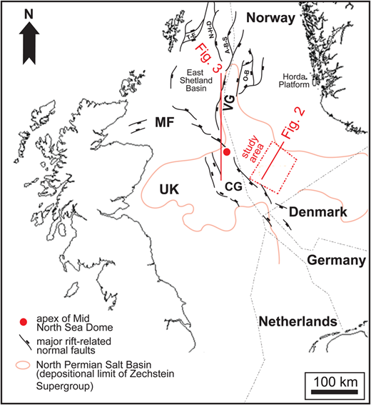 Tectonic controls on the spatial distribution and stratigraphic regional geographical setting of the north sea trilete rift system showing the limit of the ccuart Image collections