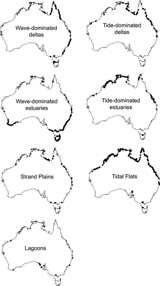 Classification Of Australian Clastic Coastal Depositional