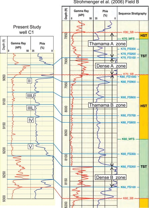 Stylolites and porosity in a lower cretaceous limestone reservoir reservoir and sequence stratigraphic nomenclature of the studied strata gamma ray log and porosity fandeluxe Choice Image