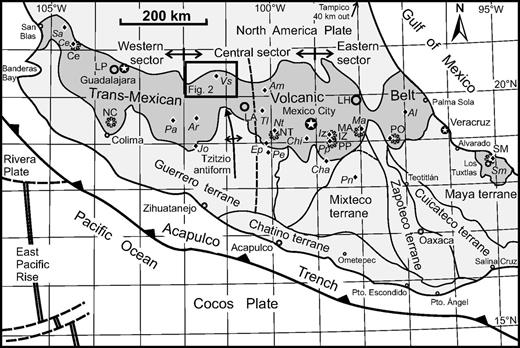 Petrology and geochemistry of the valle de santiago lower crust tectonic setting of the study area showing the e wtrending trans mexican volcanic belt fandeluxe