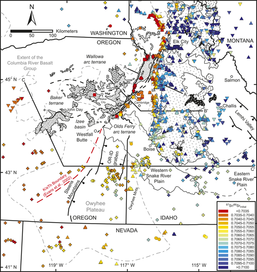Isotopic compositions of intrusive rocks from the Wallowa and Olds ...