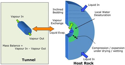 Schematic conceptual model of the hydro-mechanical system.