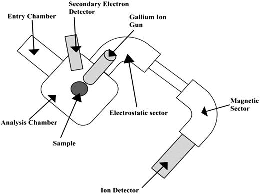 Schematic diagram of MS-SIMS instrument.