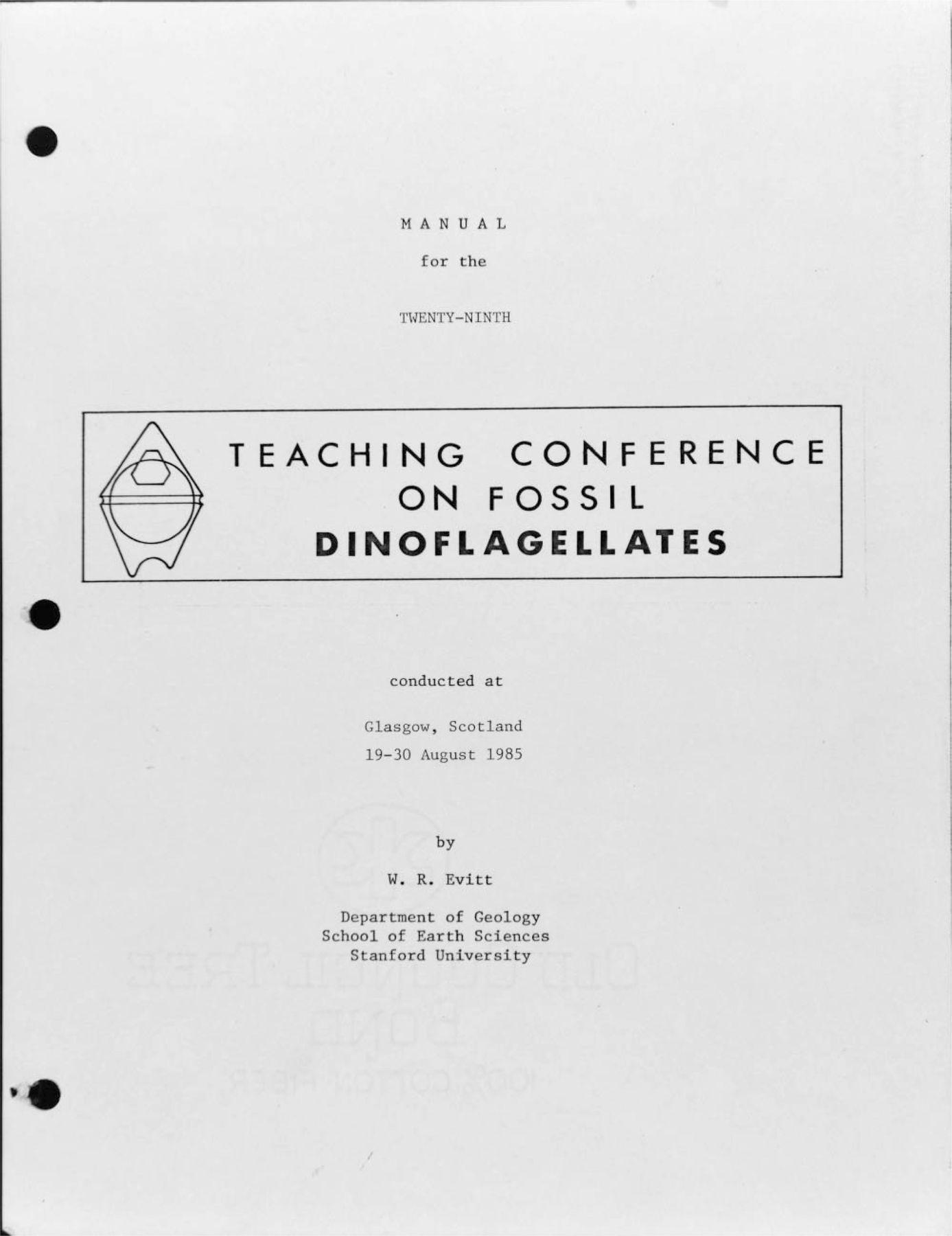 life and scientific work of William R. Evitt (1923–2009 ...