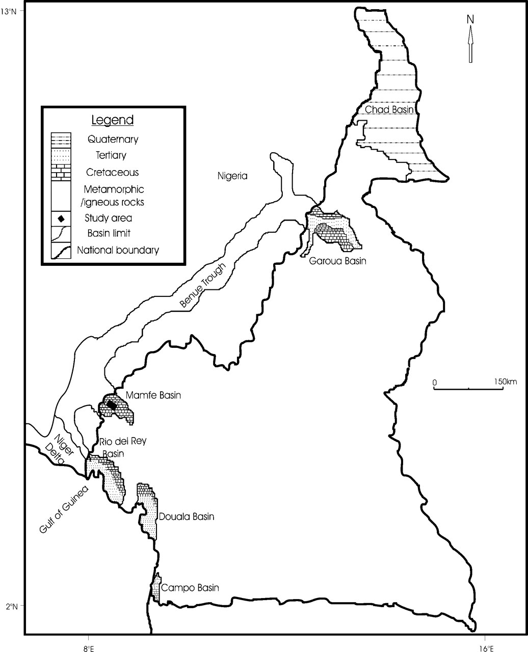 Geochemical characterization of a cretaceous black shale from the view largedownload slide map of cameroon ccuart Image collections
