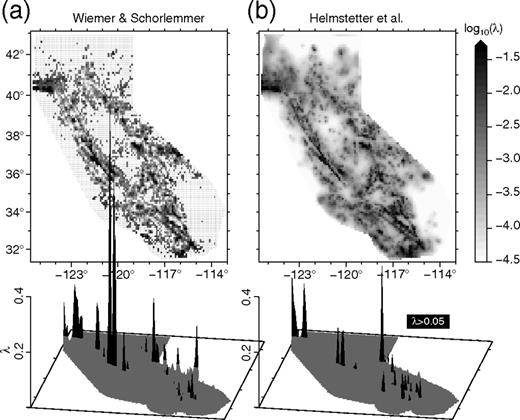 Improved seismicity forecast with spatially varying magnitude spatial distribution within regional earthquake likelihood models relm testing area of the expected m fandeluxe Image collections