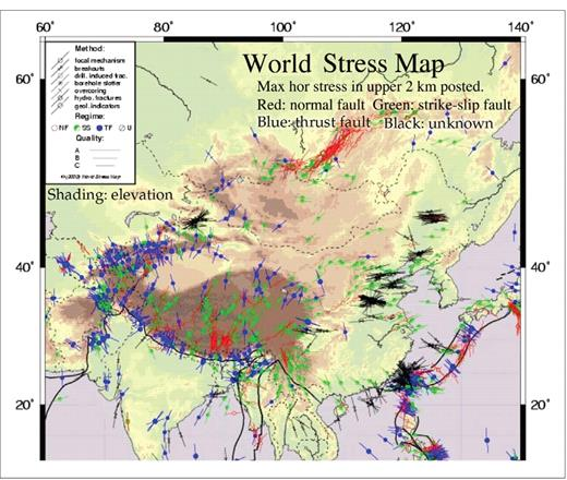 Winds of change the leading edge geoscienceworld regional stress map of china and se asia the expected direction of fluid flow is gumiabroncs Choice Image