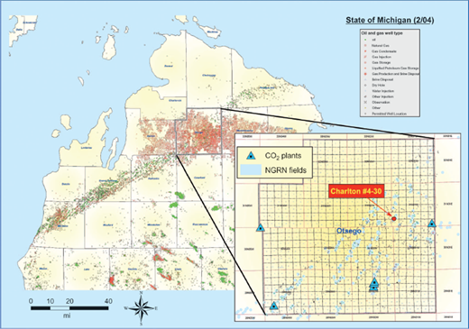 Regional assessment of co2 geological sequestration potential location map of the core energy state charlton 4 30 well in northern fandeluxe Images