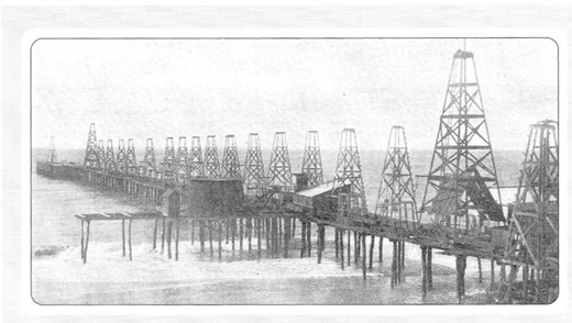 Treadwell wharf, circa 1900. Published March 23, 1901, p. 304 Harper's Weekly.