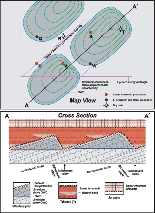 Case histories from north america surface exploration case an idealized representation of the erosional mississippian cuesta reservoirs depicted on the hg map figure ccuart Images