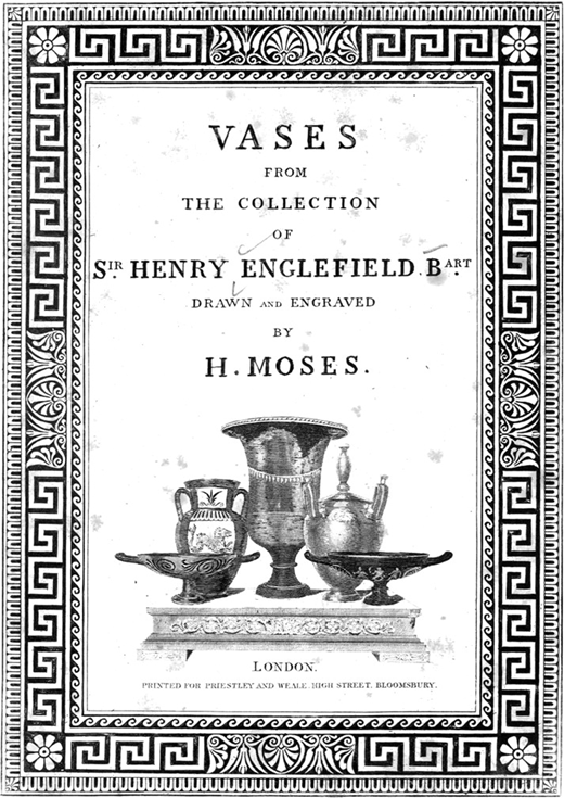 Vases From The Collection Of Sir Henry Englefield 1820 Title Page Engraved