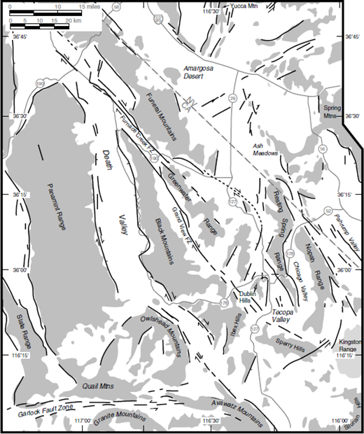 Nevada test site and yucca mountain great basin and sierra nevada regional pattern of faults active during the quaternary period compiled from inspection of the 1 fandeluxe Gallery